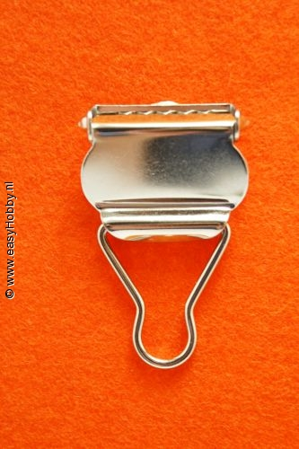 Tuinbroekgesp 25 mm zilverkleur, set van 2