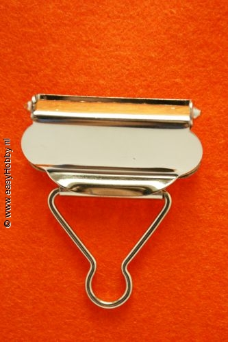 Tuinbroekgesp 40mm zilverkleur, set van 2