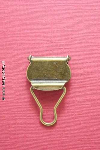 Tuinbroekgesp 25 mm donkergoud, set van 2