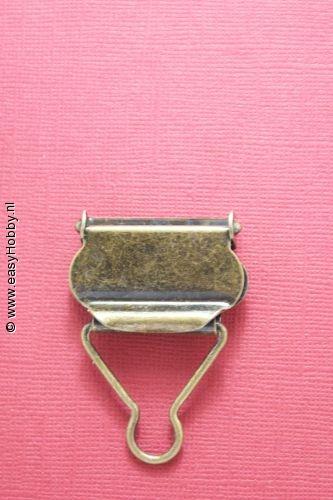 Tuinbroekgesp 30mm donkergoud, set van 2
