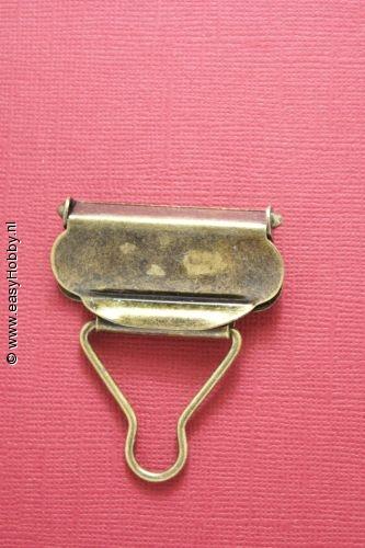 Tuinbroekgesp 40mm donkergoud, set van 2