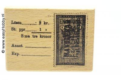 Stempel, zweedse postzegel